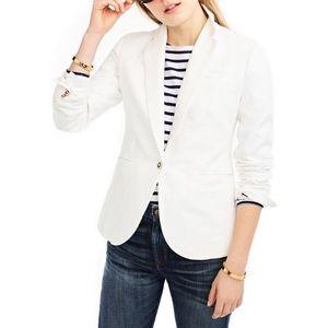 NWT J.Crew Campbell white linen blazer size 000P